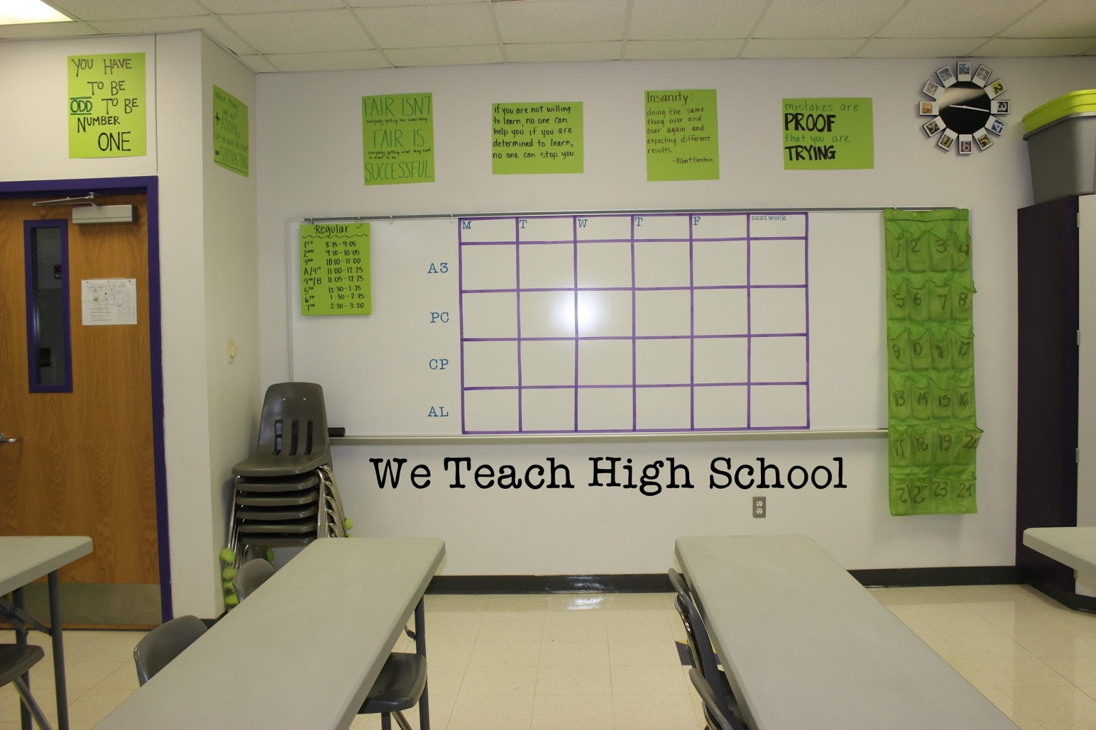 High School Math Classroom Design : We teach high school math classroom