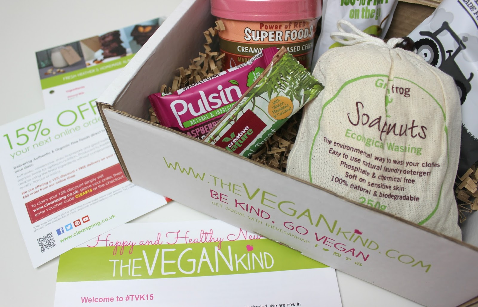 A picture of the January 2015 The Vegan Kind Box