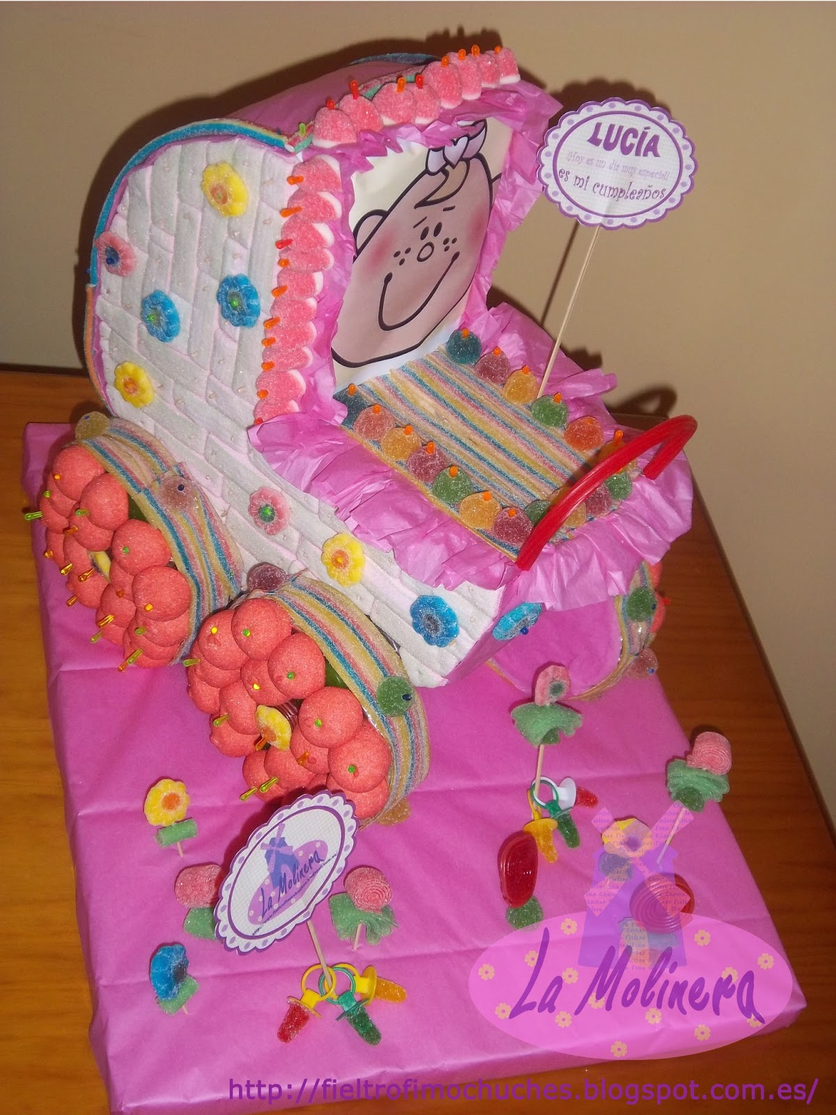 La molinera tarta chuches carrito beb - Carro de chuches para cumpleanos ...