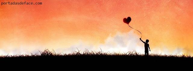 Portadas para Facebook niño elevando el corazon | Portadas Para ...