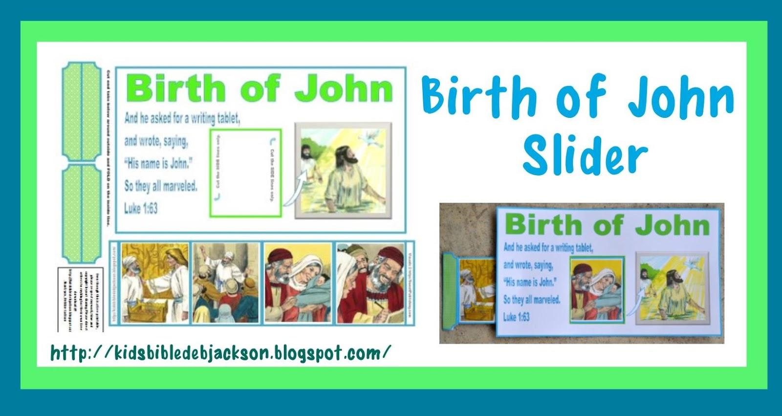 bible fun for kids birth of john the baptist