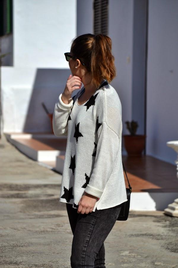 look_outfit_blanco_negro_jersey_estrellas_nudelolablog_04