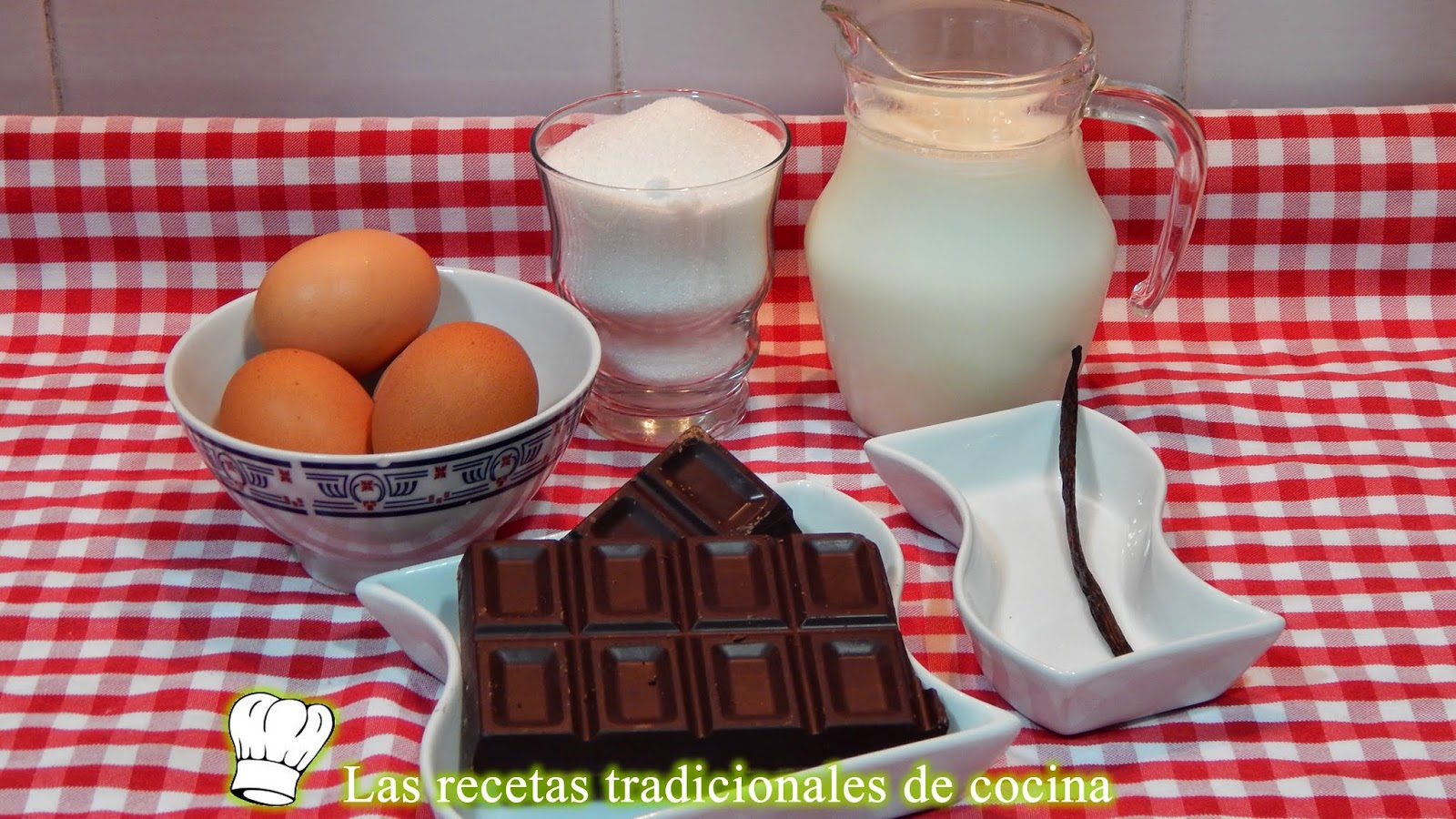 Receta simple de flan de chocolate casero