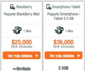 Planes de datos e internet móvil en Colombia para uff! Móvil