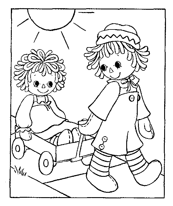 Tripp Party Of Five Twins 1st Birthday Raggedy Ann And Andy Raggedy And Andy Coloring Pages