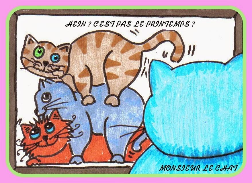 dessin de chat, les sept péché capitaux, la luxure