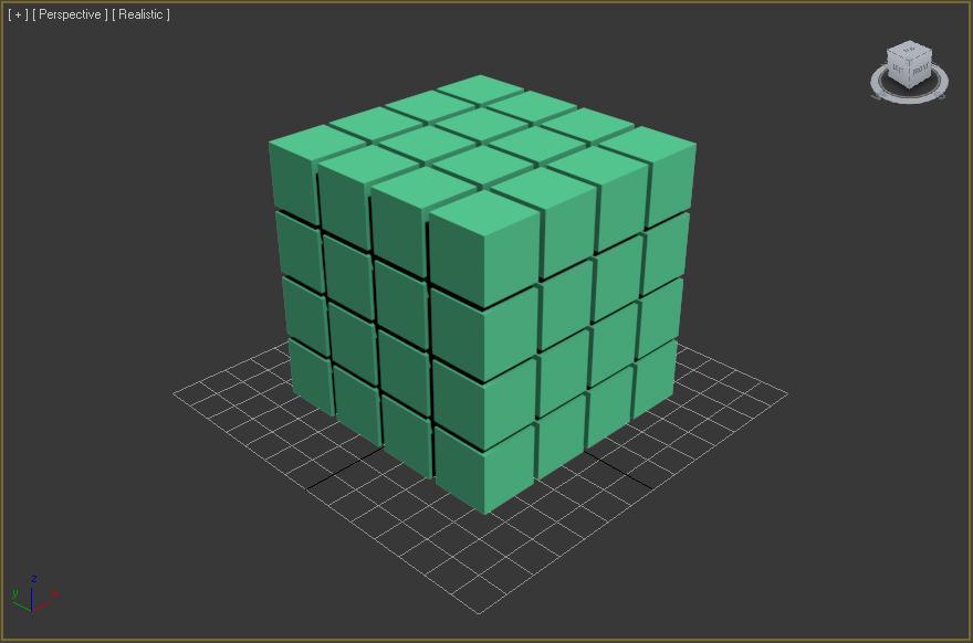 Matriz de cubos de 4x4x4
