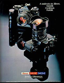 propaganda câmera fotográfica Asahi Pentax - 1979