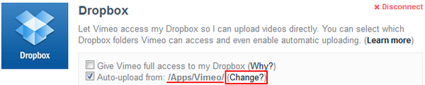 Vimeo Dropbox Upload 04