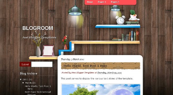 Domestic Blogger Templates