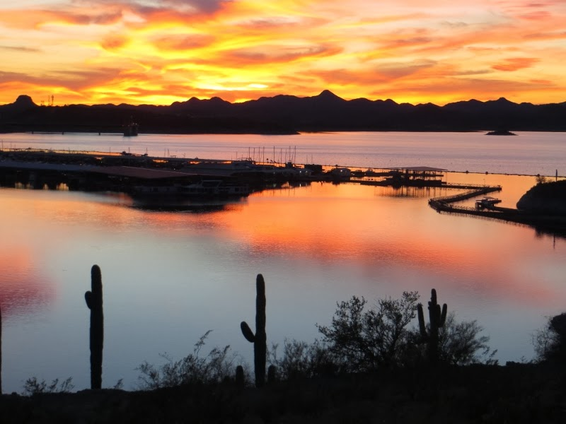 Sunset from Pleasant Harbor RV Park, Arizona