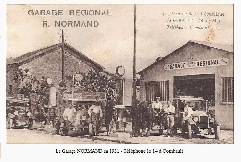 Blog de claude gerbaux historique familial for Garage renault pontault combault
