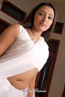 Bollywood Actress hot navel in white saree