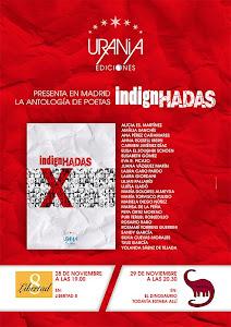 Presentaciones en Madrid de la antología INDIGNHADAS,de Urania Ediciones