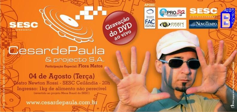 GRAVAÇÃO DVD CESAR D'PAULA