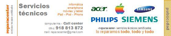 reparacenter - servicios técnicos certificados - reparacion de iPhone - reparacion de IPod - reparacion de iPad