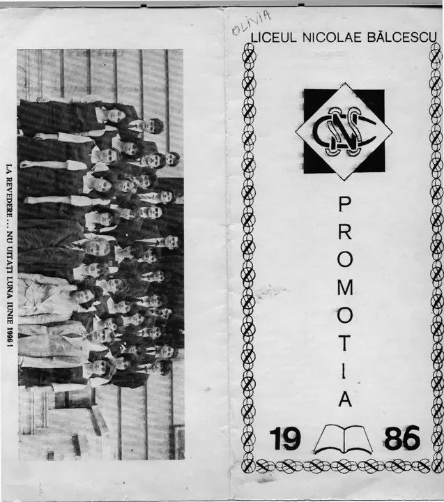 Colegii clasei 9-12V, promotia 1986, liceul Balcescu, Bucuresti 1