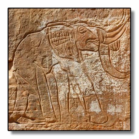 Grabado del elefante prehistórico