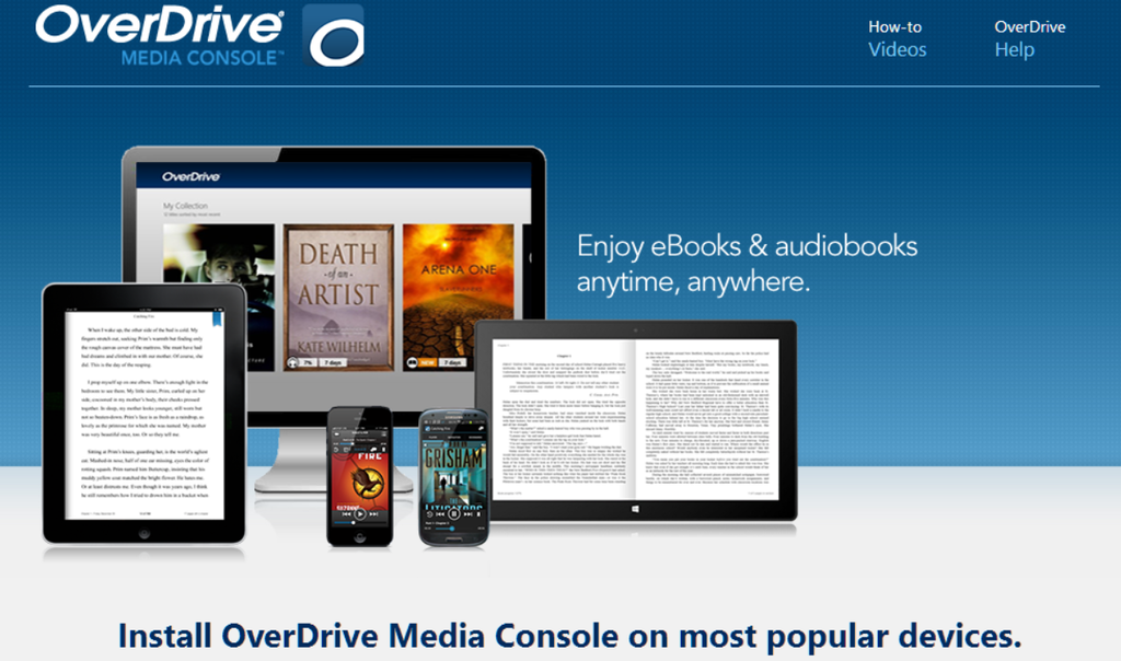 E-books & Audio books with OVERDRIVE!