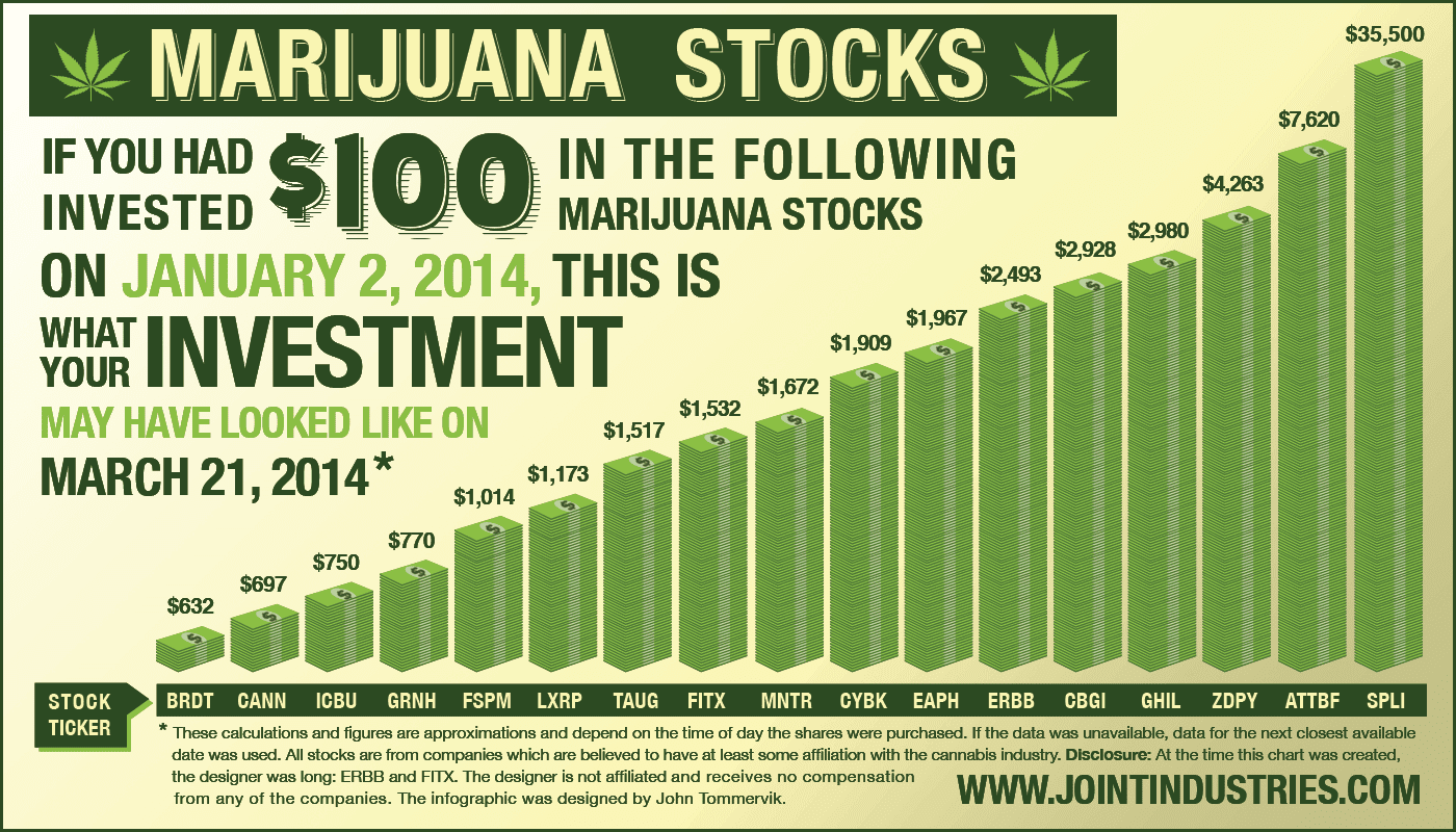 Marijuana stocks infographic invest