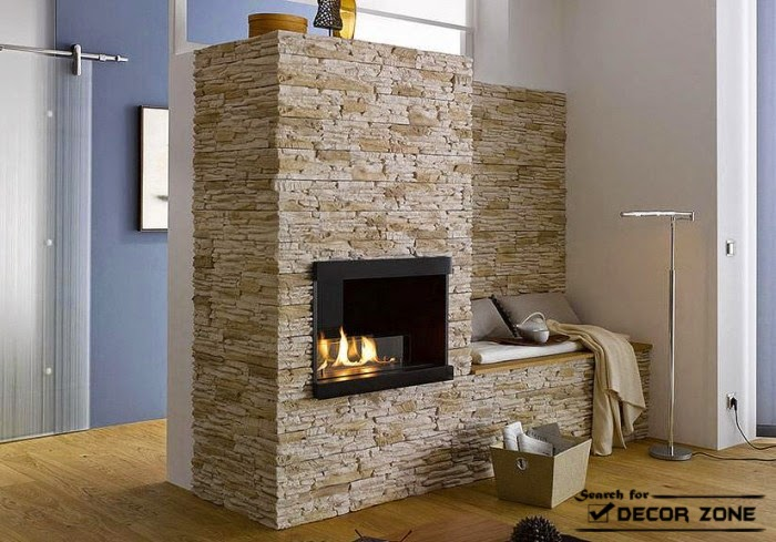 15 living room designs with stone wall panels - Wall cladding for living room ...