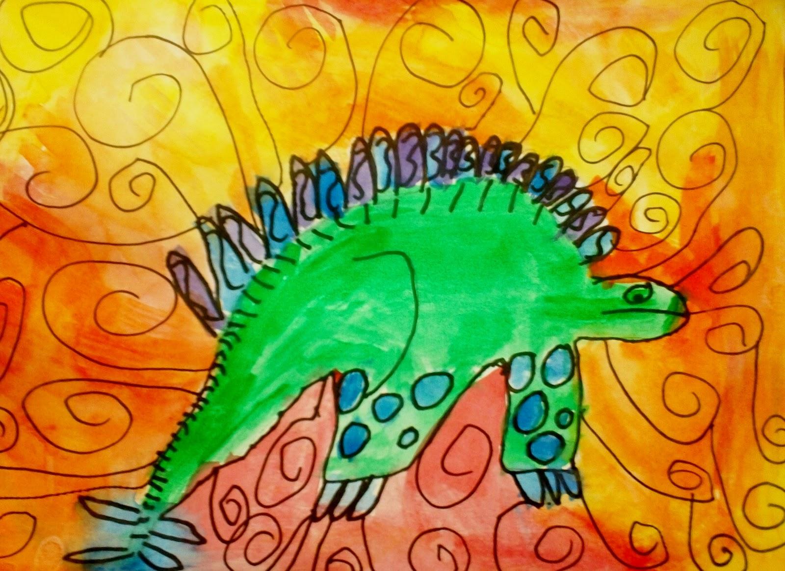 Dino Paintings 1st Grade