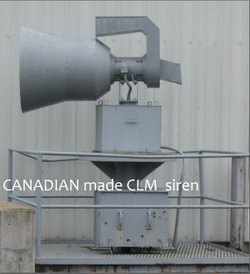 Canadian made CLM siren, Cold War Era, 1960s