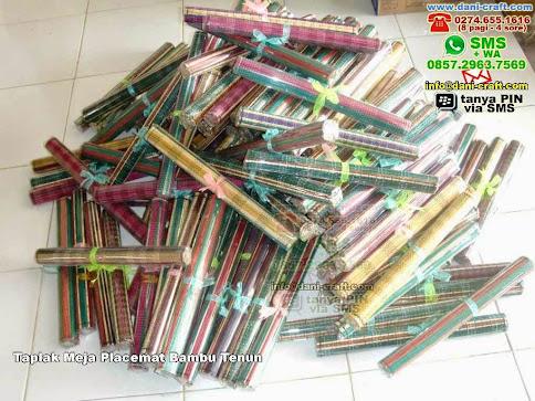 Taplak Meja Placemat Bambu Tenun Bambu Lidi Bandar Lampung