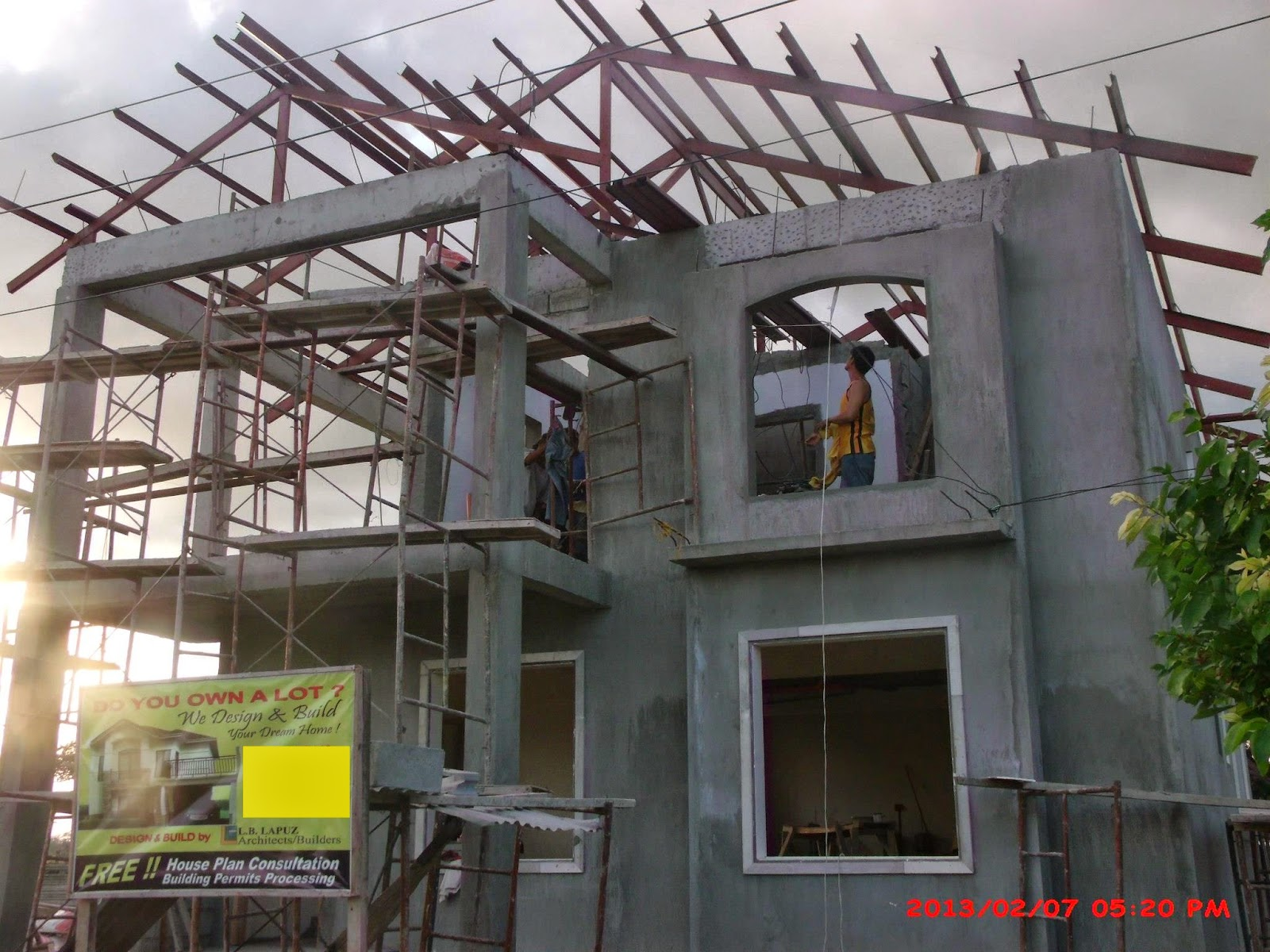Savannah trails house construction project in oton iloilo for Three storey house designs in the philippines