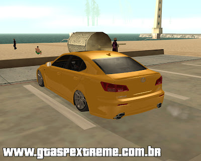 Lexus IS F 2009 Tuning para grand theft auto