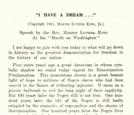 a literary analysis of the important points in i have a dream speech by martin luther king Critical analysis of 'i have a dream' martin luther king's speech, 'i have a dream' may other than literary devices, the speech also uses.