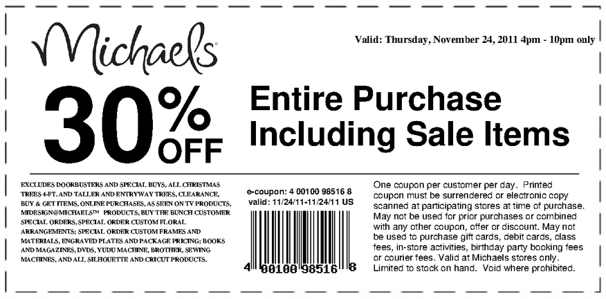 What are the best Michaels coupons? You can always find 10% to 50% off coupons that work on various types of orders. To save the most money, select the coupon that works best for you! If you're looking to buy just one or two items, your best bet would be their 50% .