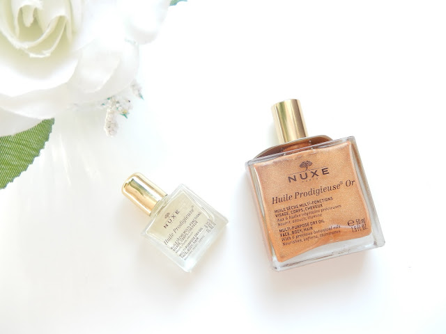 NUXE Golden shimmer dry oil and NUXE original dry oil review on Beka's Beauty. British Beauty Blogger