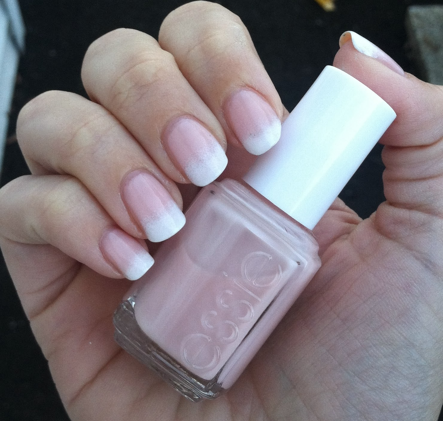 embellished nails: french manicure gradient