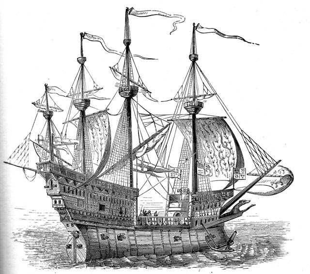 the history man  the spanish armada abandons the galleon