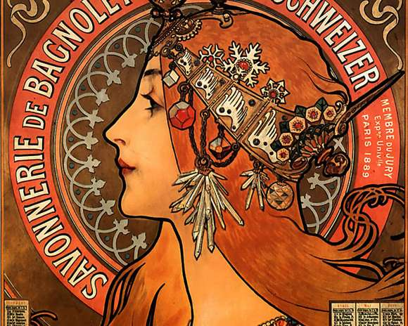 Alphonso Mucha Art Painting Wallpapers 11