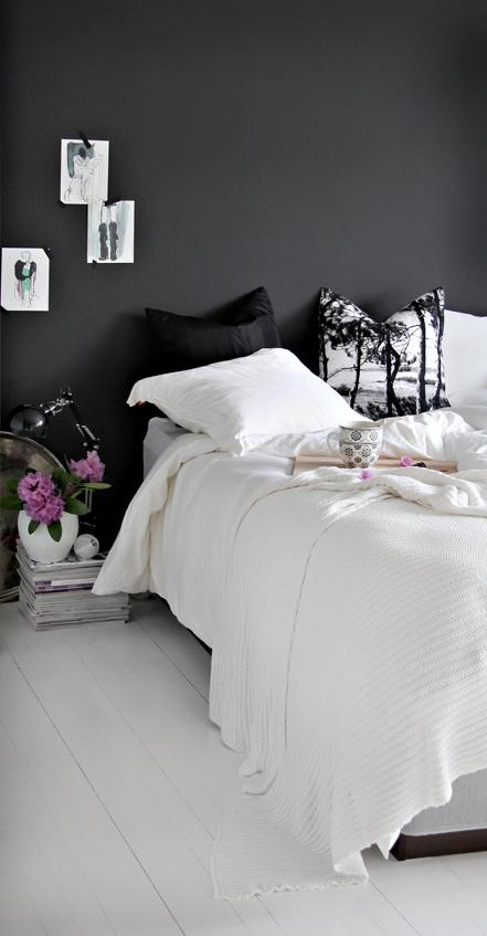 C mo decorar una habitaci n para mujeres con paredes negras decorar tu habitaci n - Habitaciones blancas y negras ...