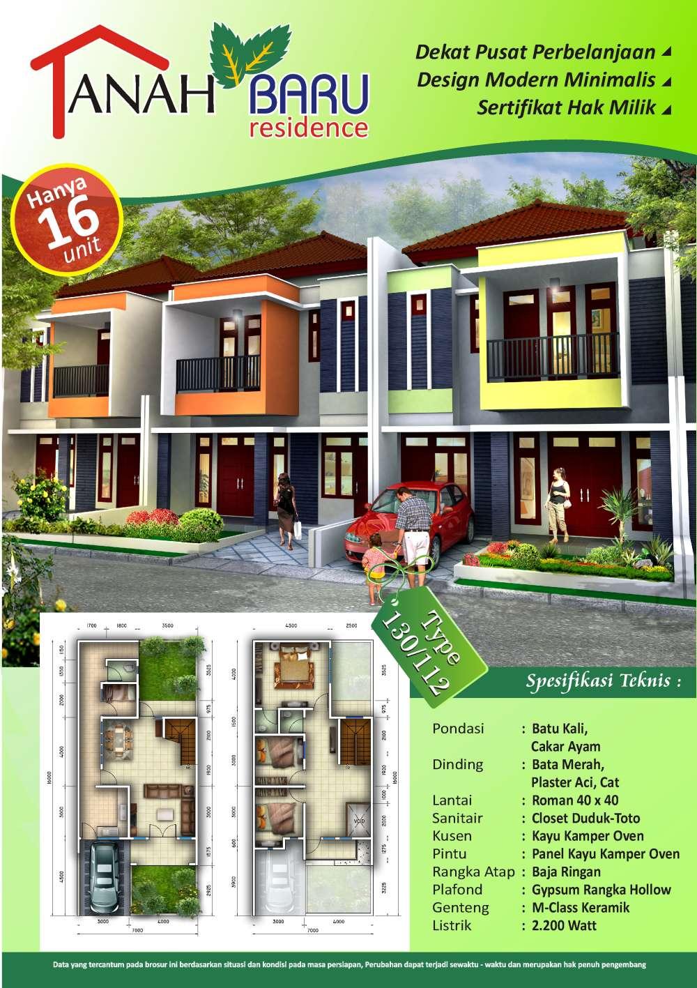 perumahan tanah baru residence depok brosur perumahan