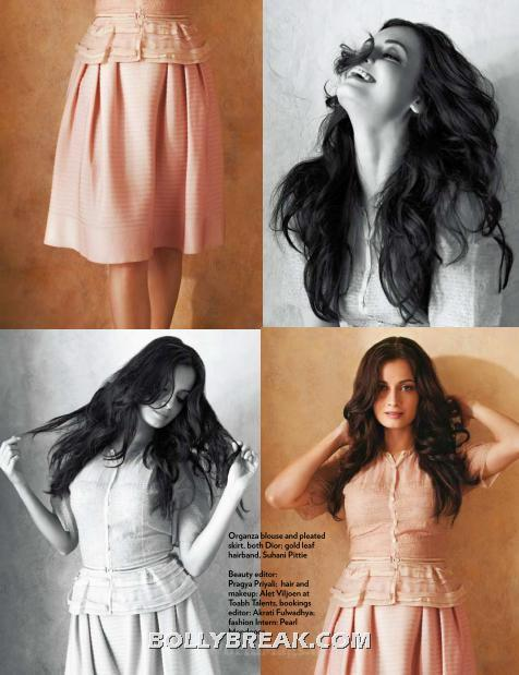 Dia mirza hot photos in pastel colors - Dia Mirza's Marie Claire July 2012