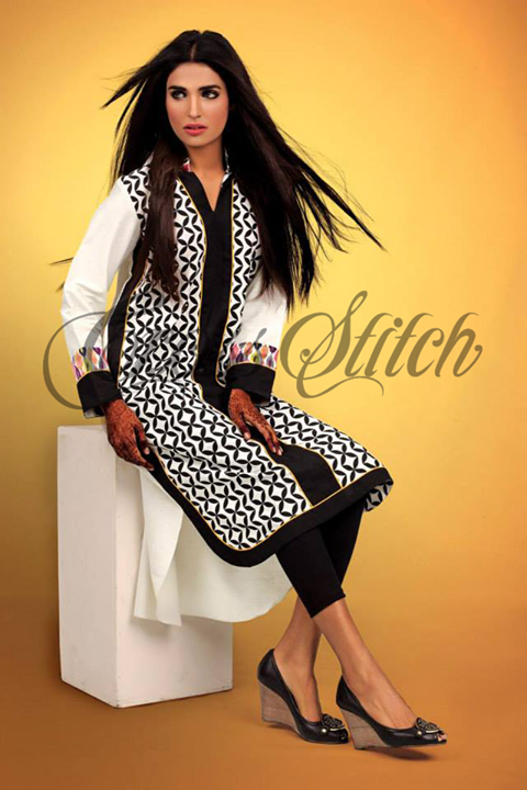 Cross Stich Winter Collection 2013-14 featuring Amna Ilyas