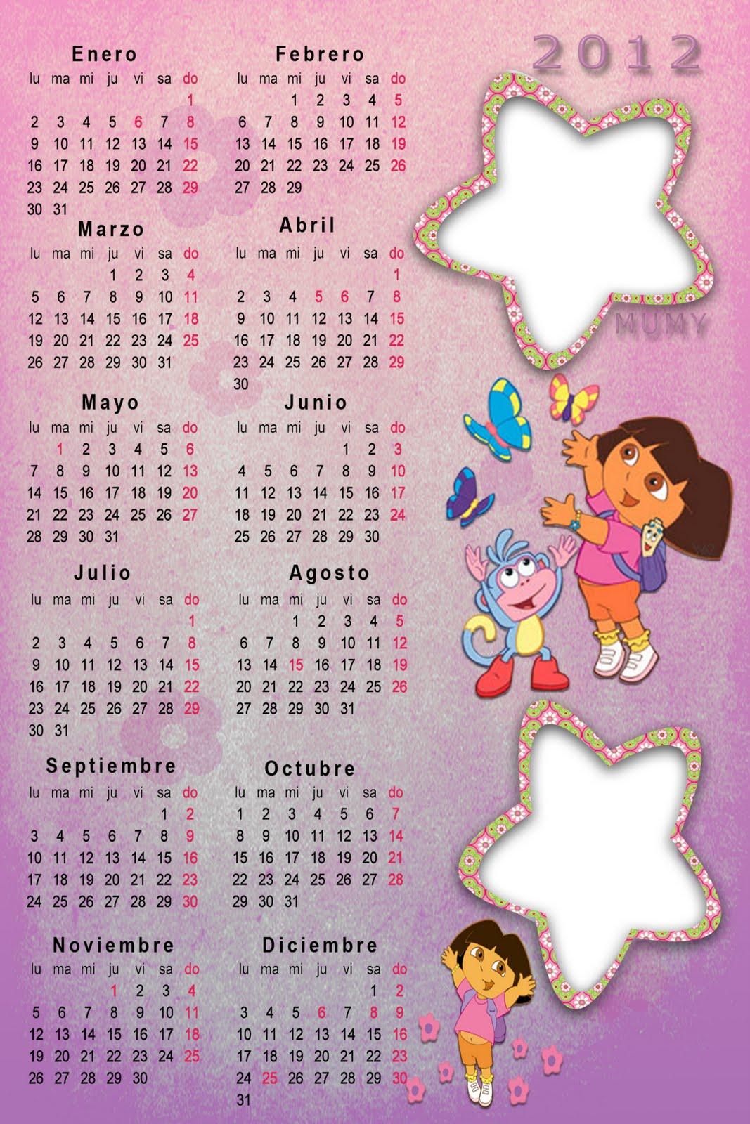 calendario 2012 dora