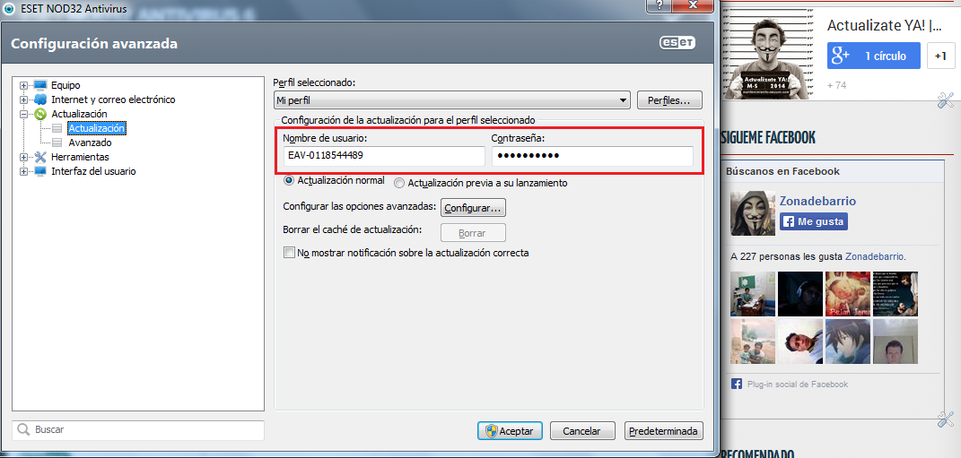 Solucionar Error de Actualización NOD32 y Smart Security