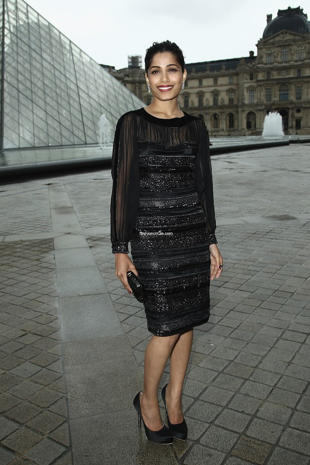 Freida Pinto at Salvatore Ferragamo Cruise Collection 2013
