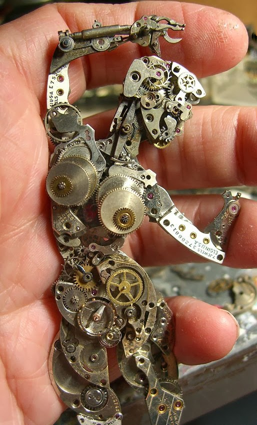 02-Dancer-Recycled-Watch-Sculptures-Steampunk-Susan-Beatrice-All-Natural-Arts-www-designstack-co