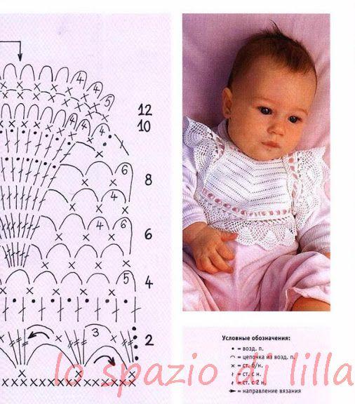Вязание для новорожденных девочек со схемами и  959