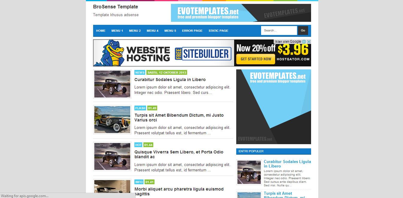 Template Blog Responsive Brosense