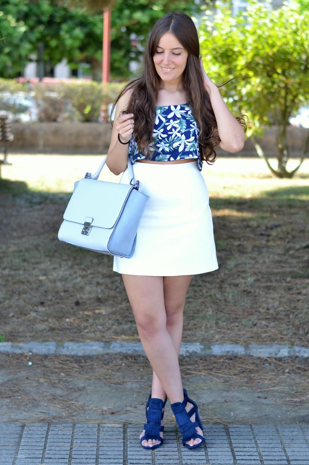 Combinar bolso azul claro