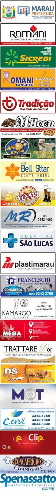 Empresas que apoiam a AMF: