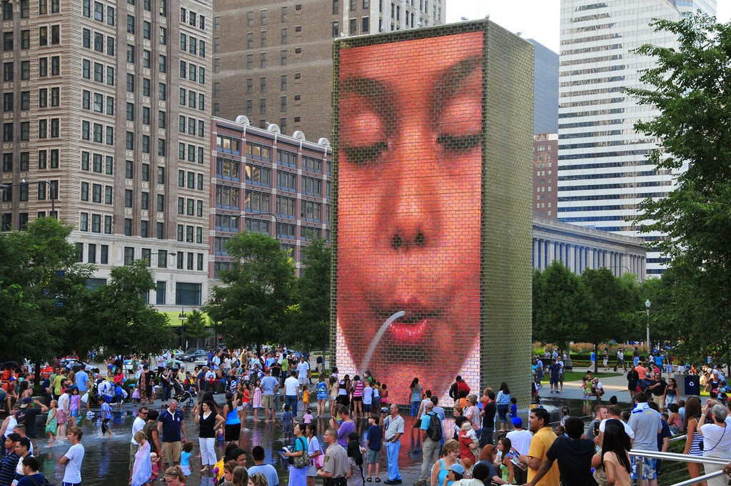 Crown Fountain Millenium Park en Chicago