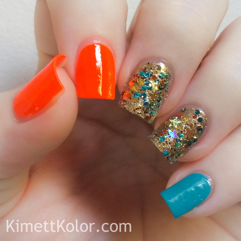 Neon and Glitter Excitement | Kimett Kolor